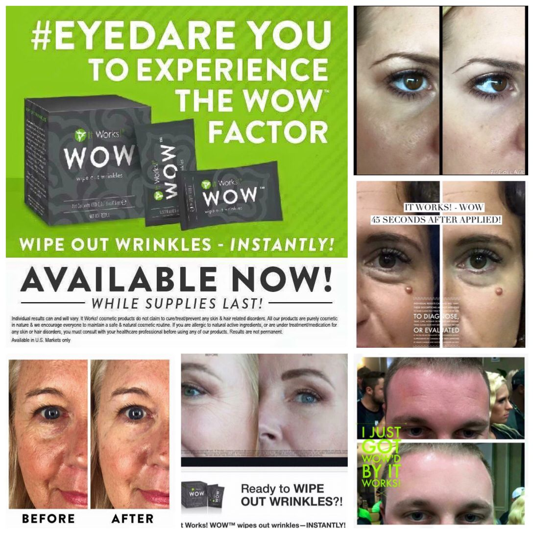 It Works Wow Wipe Out Wrinkles Beauty Skin Care Anti Aging I Love These Products They Really W It Works Facials Beauty Products That Work Face Care Cream