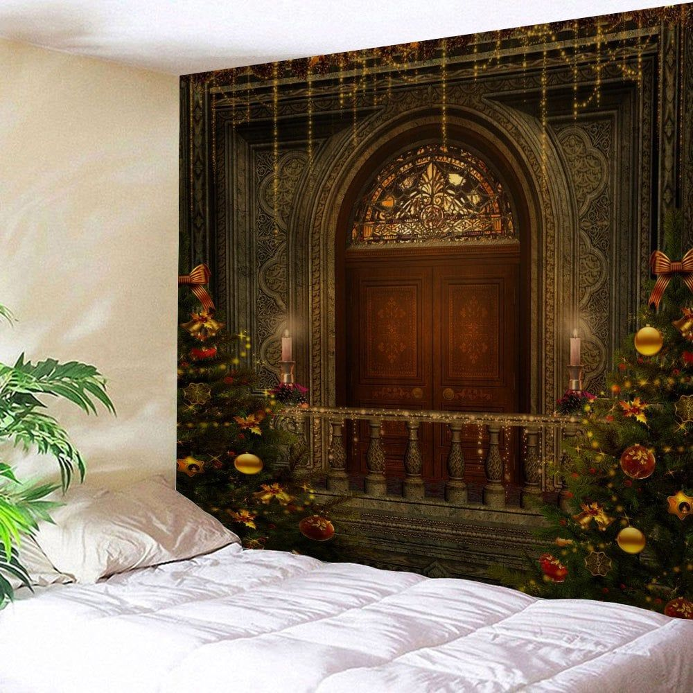 christmas tree decorative door wall hanging tapestry on walls coveralls website id=89452