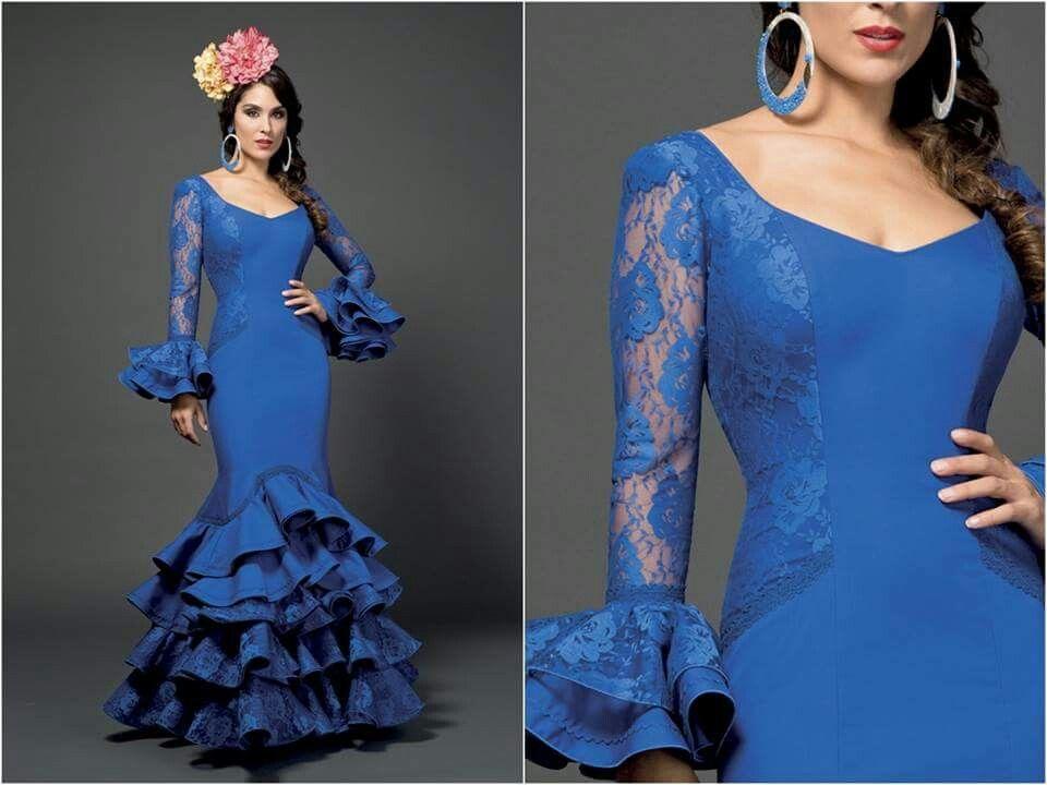Vestido de flamenca azul