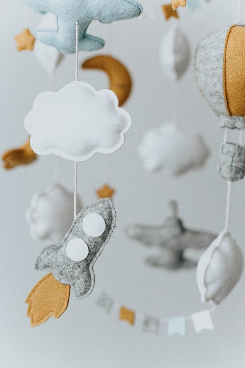 Flugzeug Baby Mobile / heiße Luft Balon Mobile / Kindergarten   Etsy