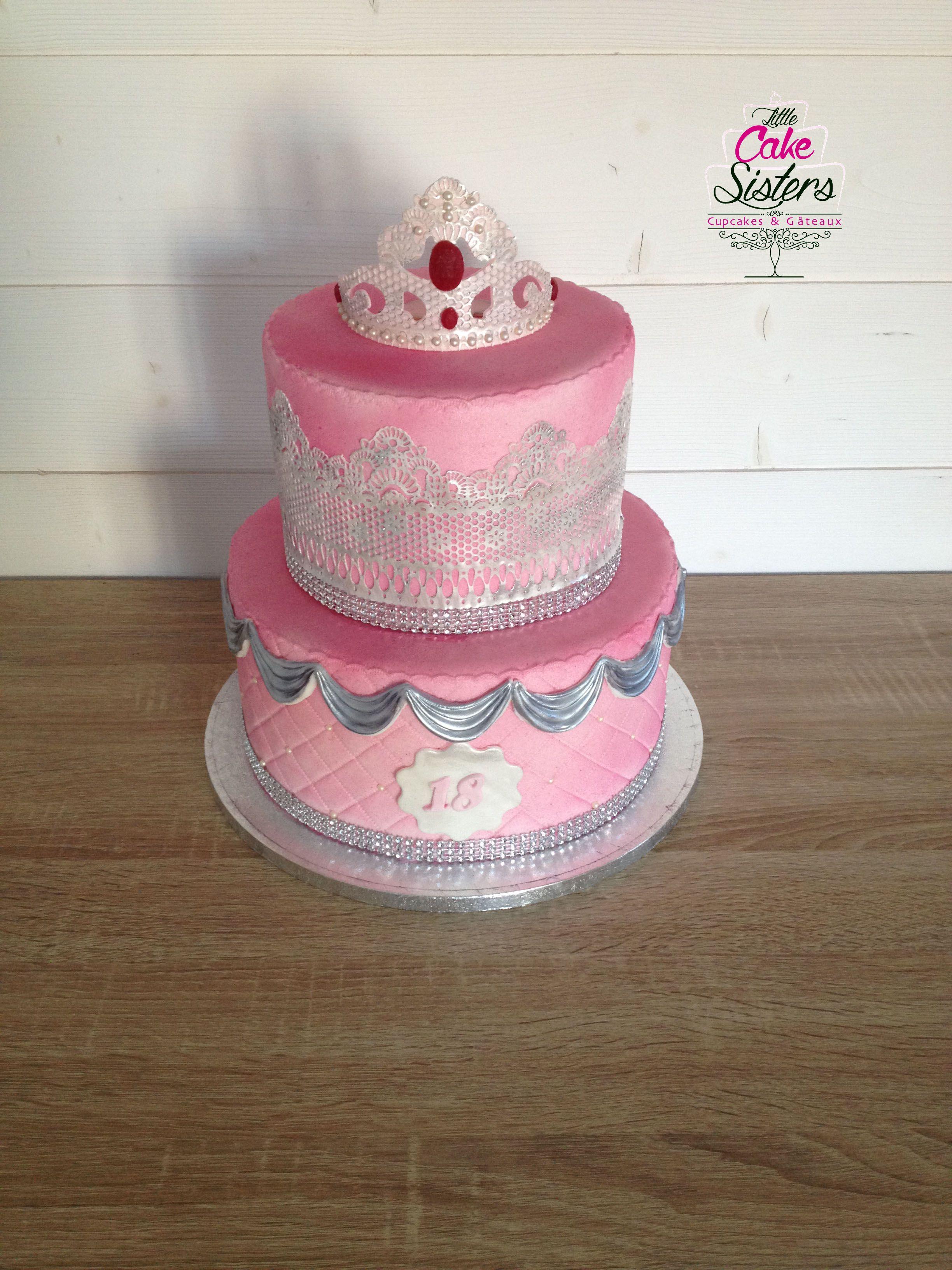 gumpaste crown, couronne pâte à sucre, gâteau princesse, cake design princesse
