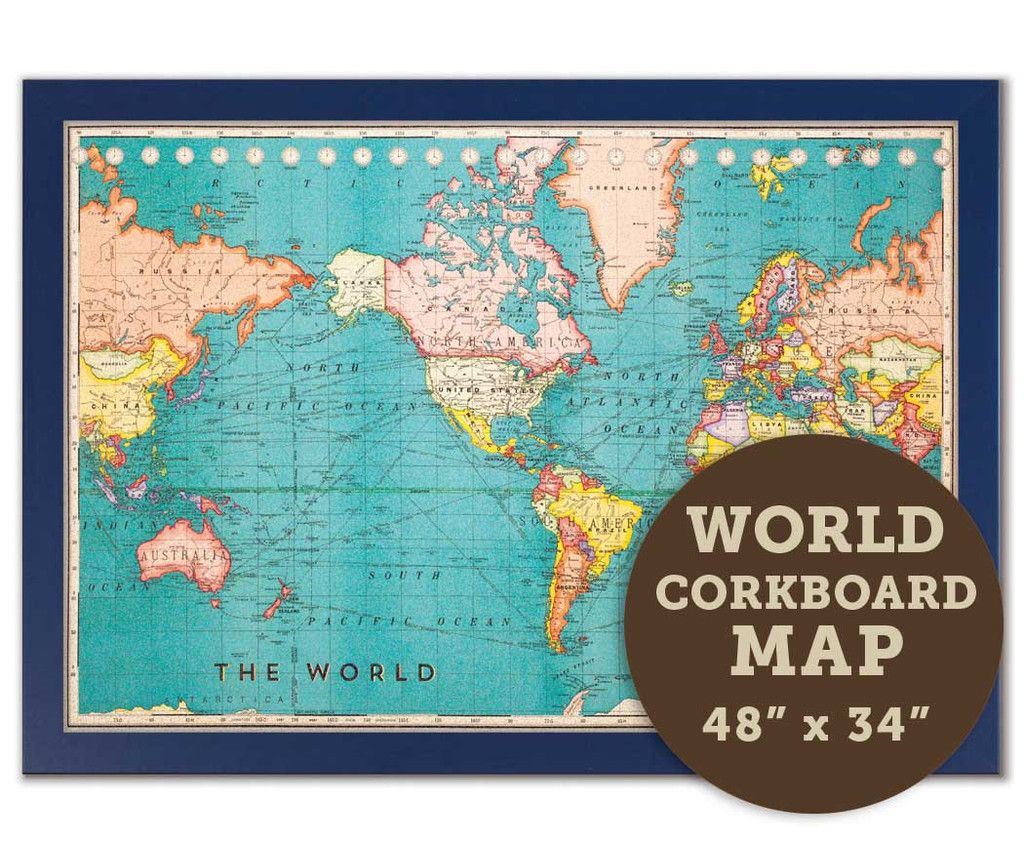 Cork board world map now available in your choice of wood frames cork board world map now available in your choice of wood frames size 48 gumiabroncs Choice Image