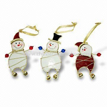 Image detail for Stained Glass Snowman Ornament Fashion Pendants