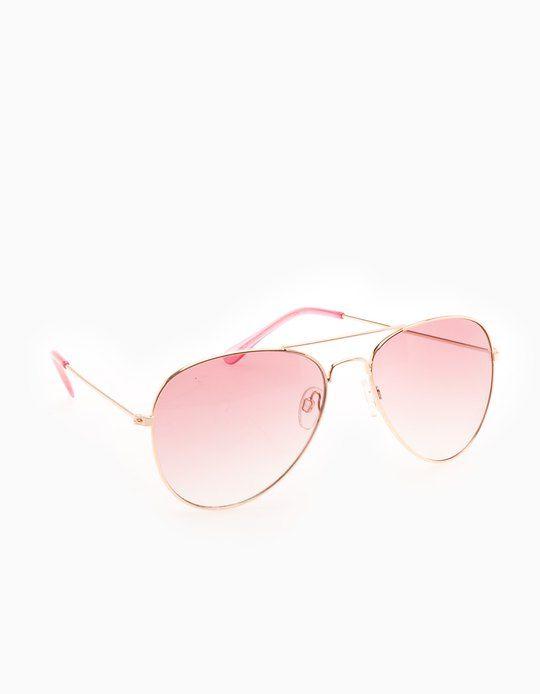 565c38aec6 Gafas aviador metal-Stradivarius | Gafas de sol en 2019 | Gafas ...