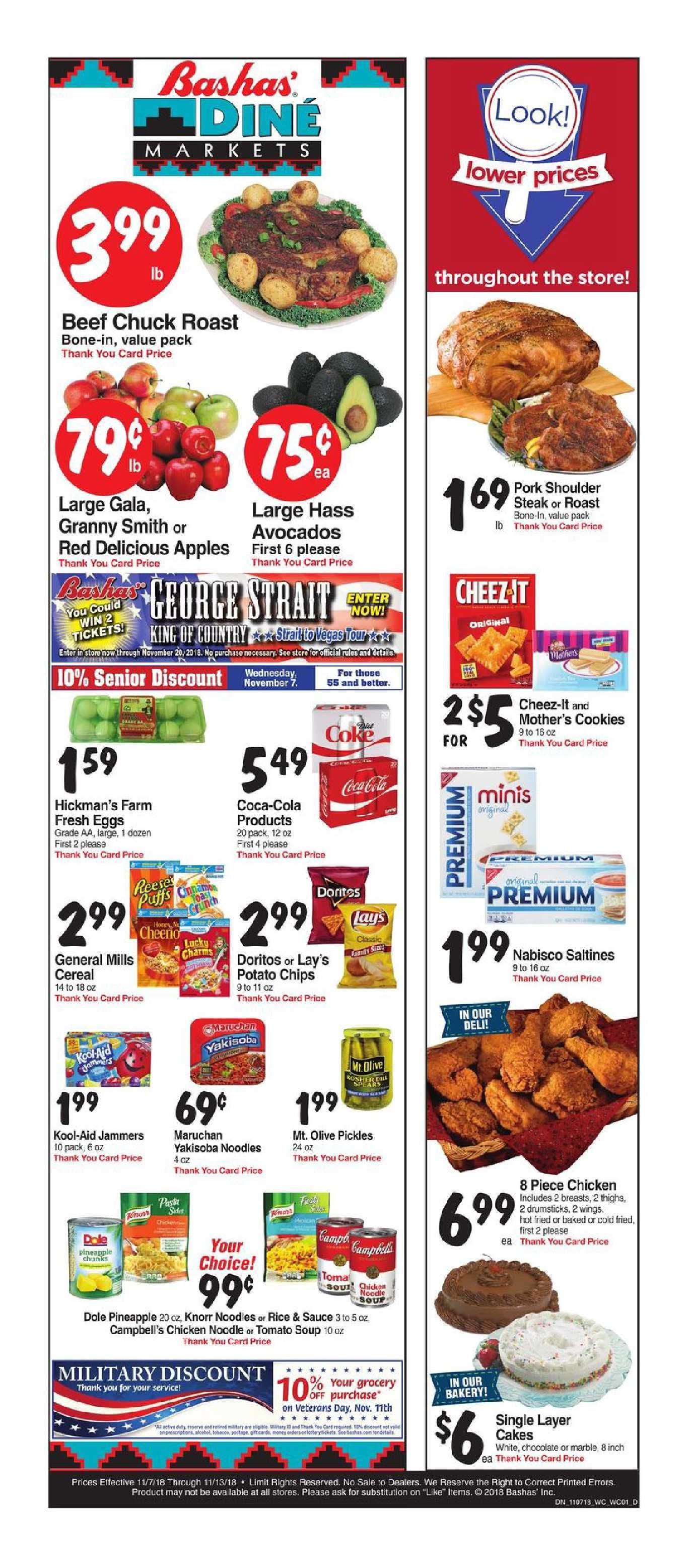 Bashas Weekly Ad Flyer July 3 9 2019 Mothers Cookies Pork