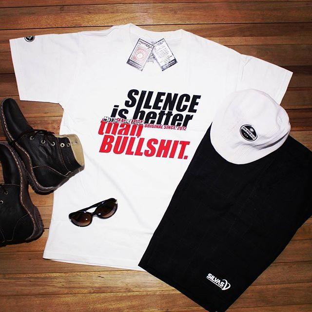 """SILENCE  is BETTER Than B U L L S H I T"". #silvasoriginals #polyflex #tees #tshirt #apparel"