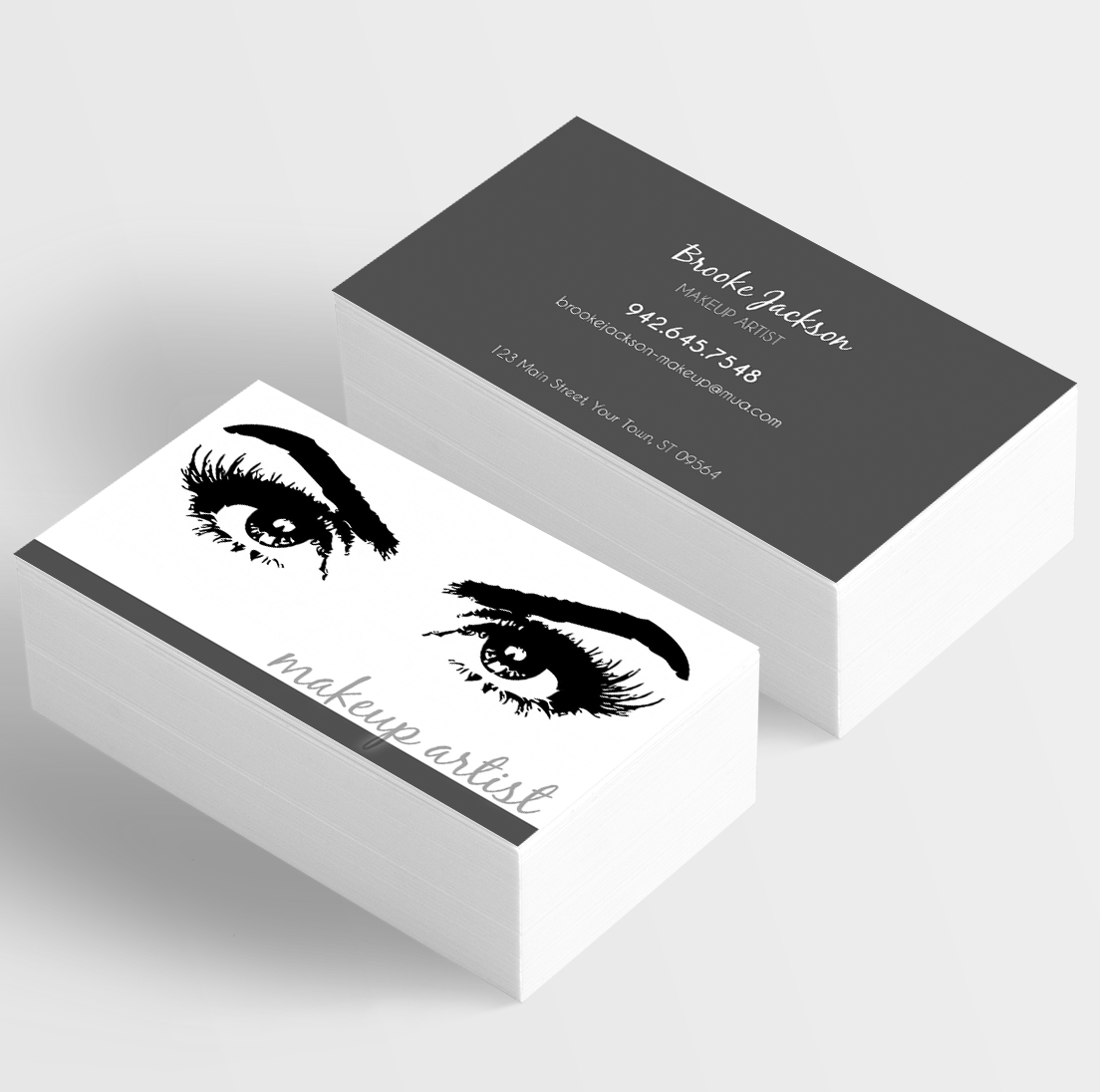 Mua makeup artist makeup for all occasions eyelashes lashes makeup artist styled business card with eyes and eyelashes make your own business card alramifo Image collections