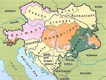 Awesome map for Pre WWI Discussion Map of Austria Hungary ...