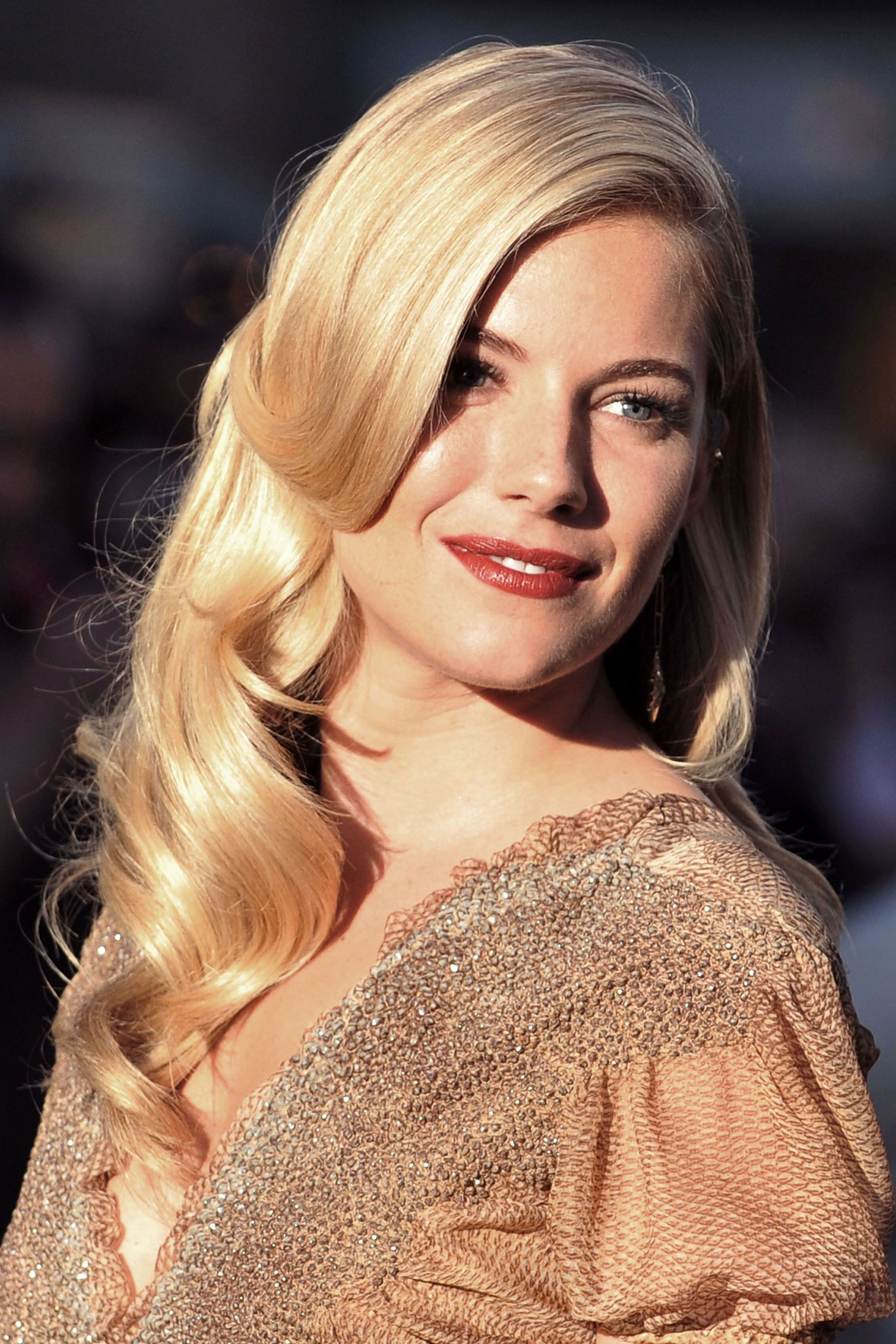 TheLIST Old Hollywood Waves  Sienna miller Hollywood waves and