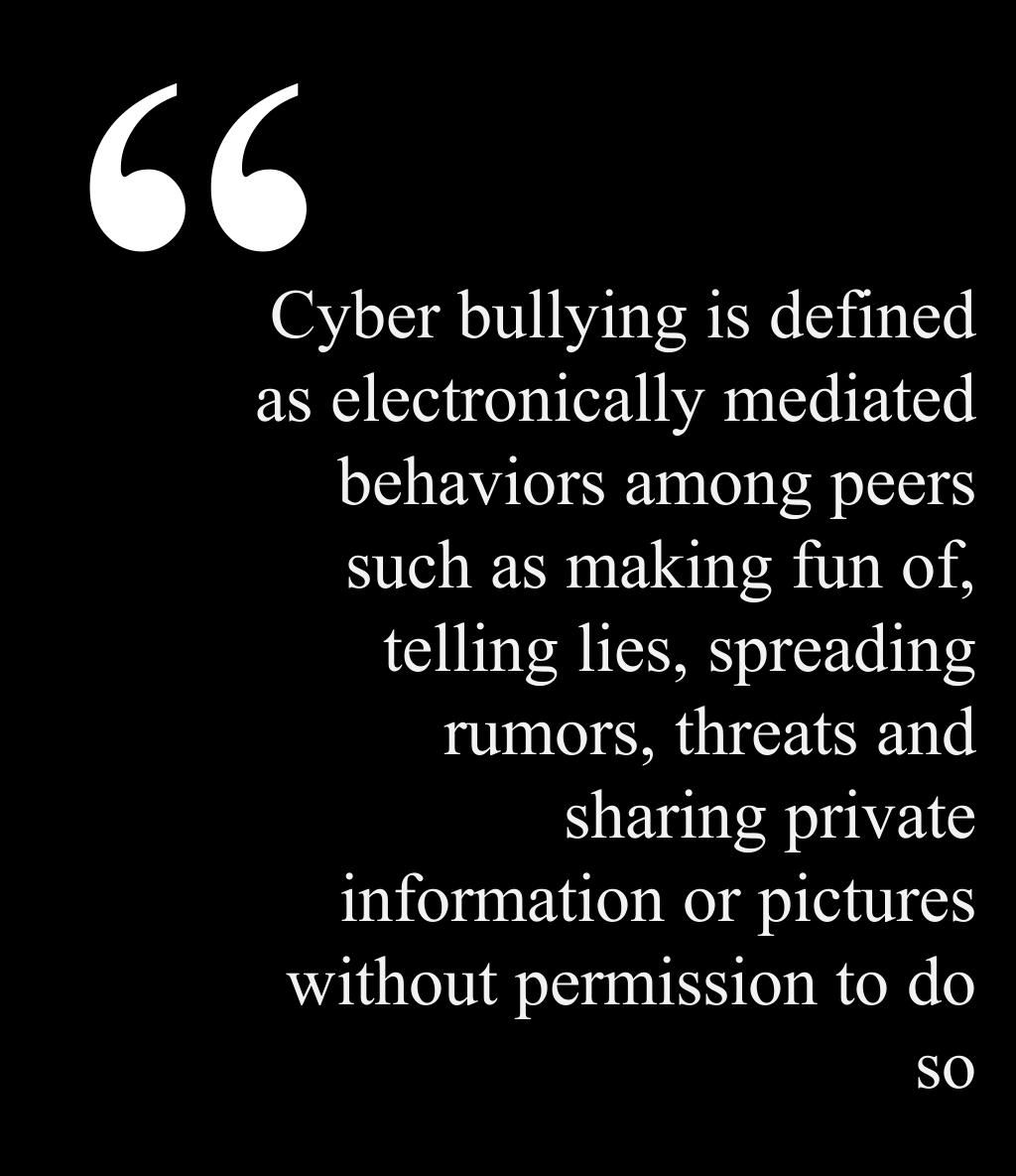 Cyber Bullying Quotes Evidence Document From Opposing Viewpoints Site Entitled