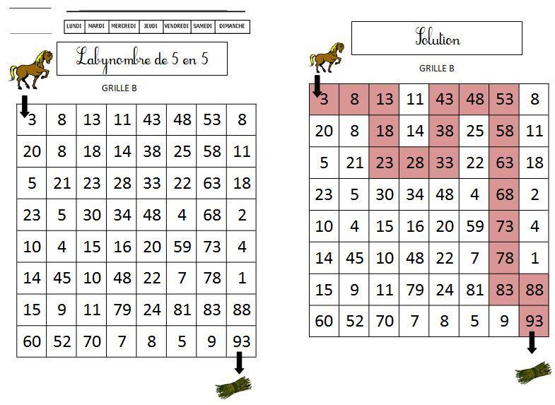Labynombres de 5 en 5 s rie 1 blog gs cp ce1 ce2 de for Tables de multiplications cm1