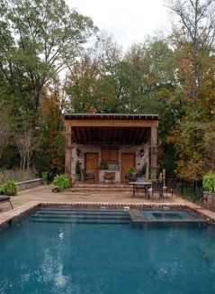 Red Oak Lane Residence Pool House Pool Landscaping Pool