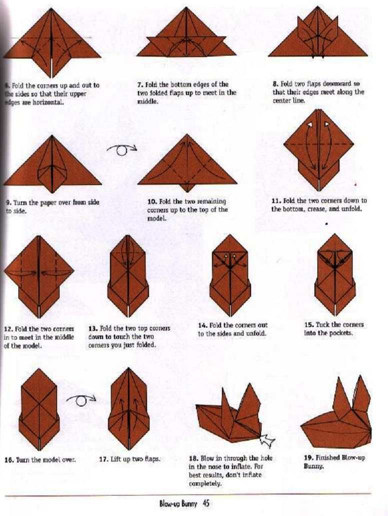 Inflatable Origami Mouse Diagram Worksheet And Wiring Mousemouse Origamiorigami Diagramorigami Image Result For Bunny Diy Crafts Rh Pinterest Com Horse