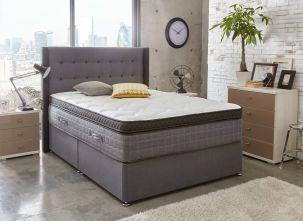 Sealy Pocket Prestige 2800 Divan Bed Medium Soft Ash