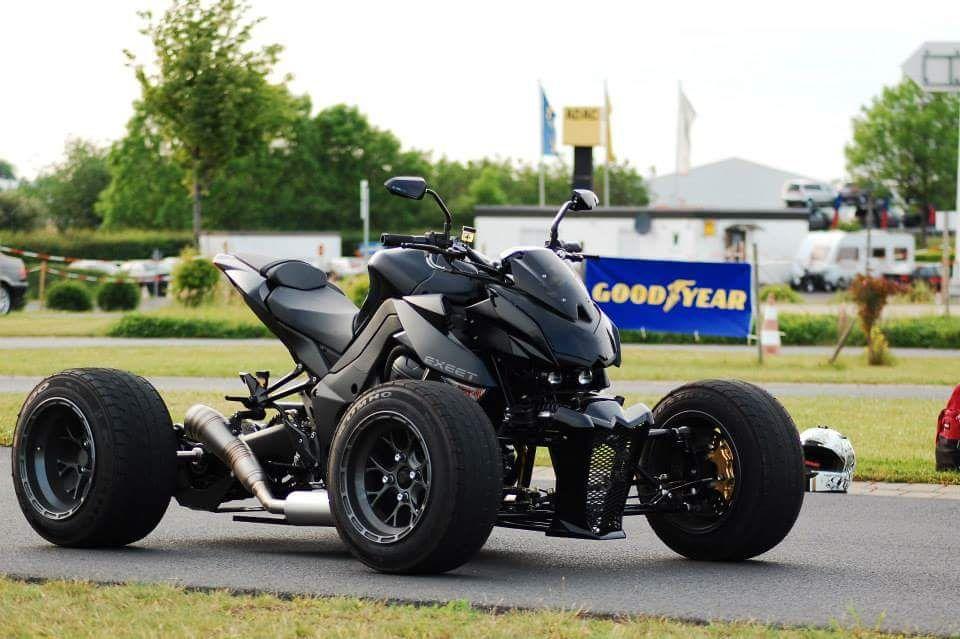 Exeet Motorcycle Quad Conversion Kawasaki Z1000 Modified Exeet