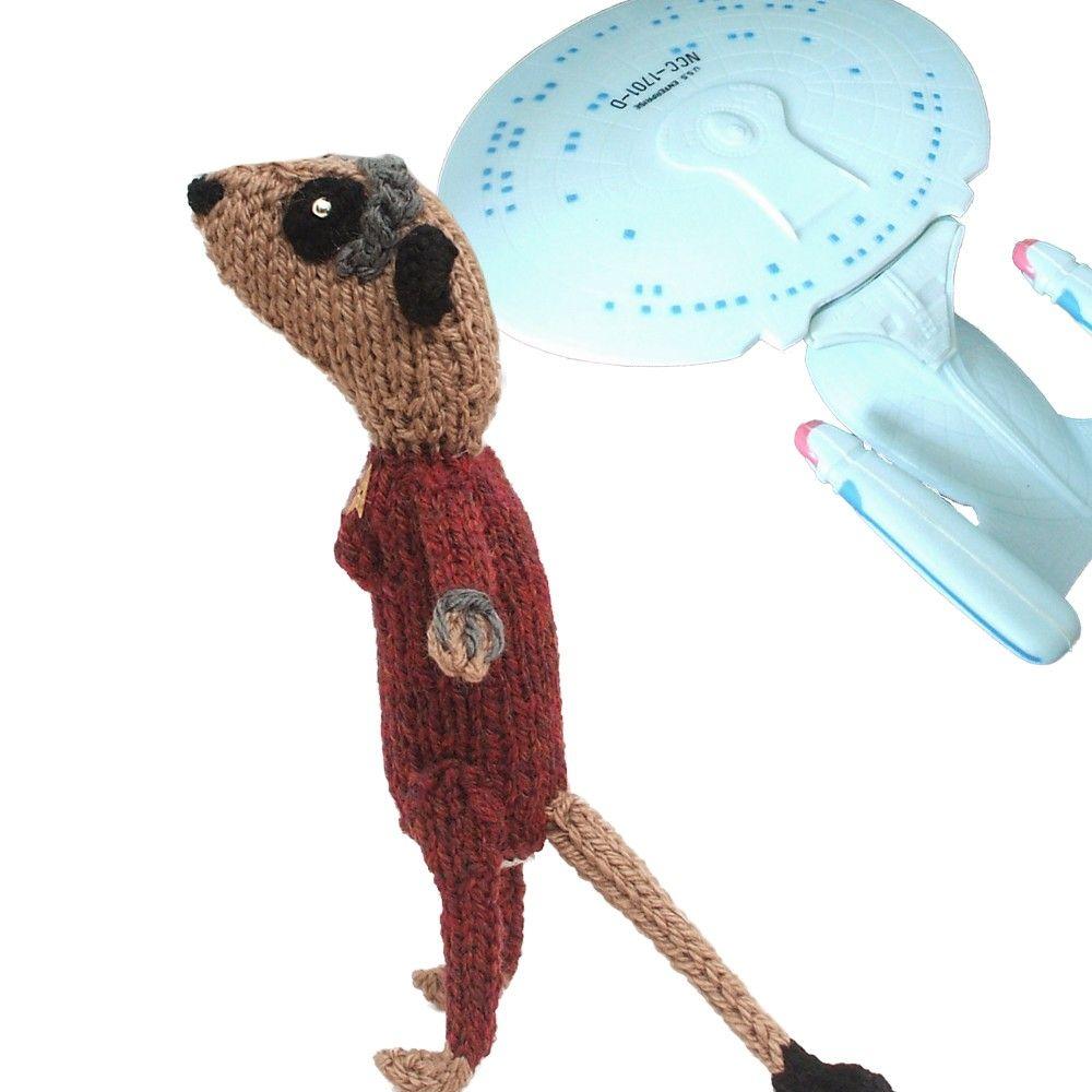 Meerkat 7 of 9 star trek voyager handknitted by