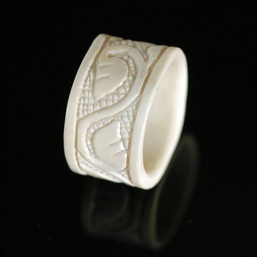 Bone Ring Bone Carving Carved Stone Jewelry Bone Ring