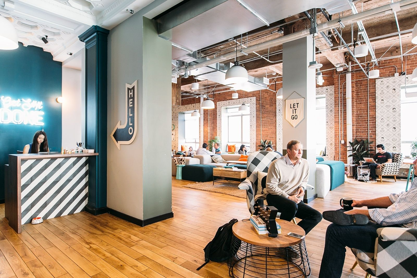 A Tour Of Wework Mid Market Office Space Design Office Space Commercial Design