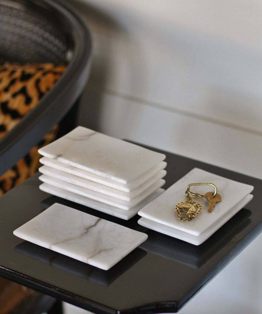 Small White Marble Tray Made Of Solid White Marble
