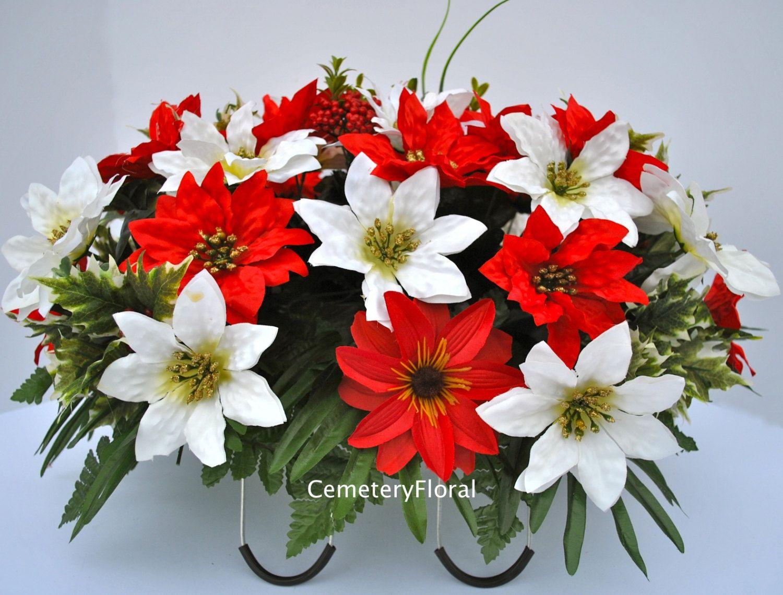 Cemetery Flower Servicechristmas Flowerscemetery Flowersheadstone