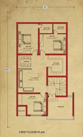 House floor plan marla in bahria town lahore architecture design also rh pinterest