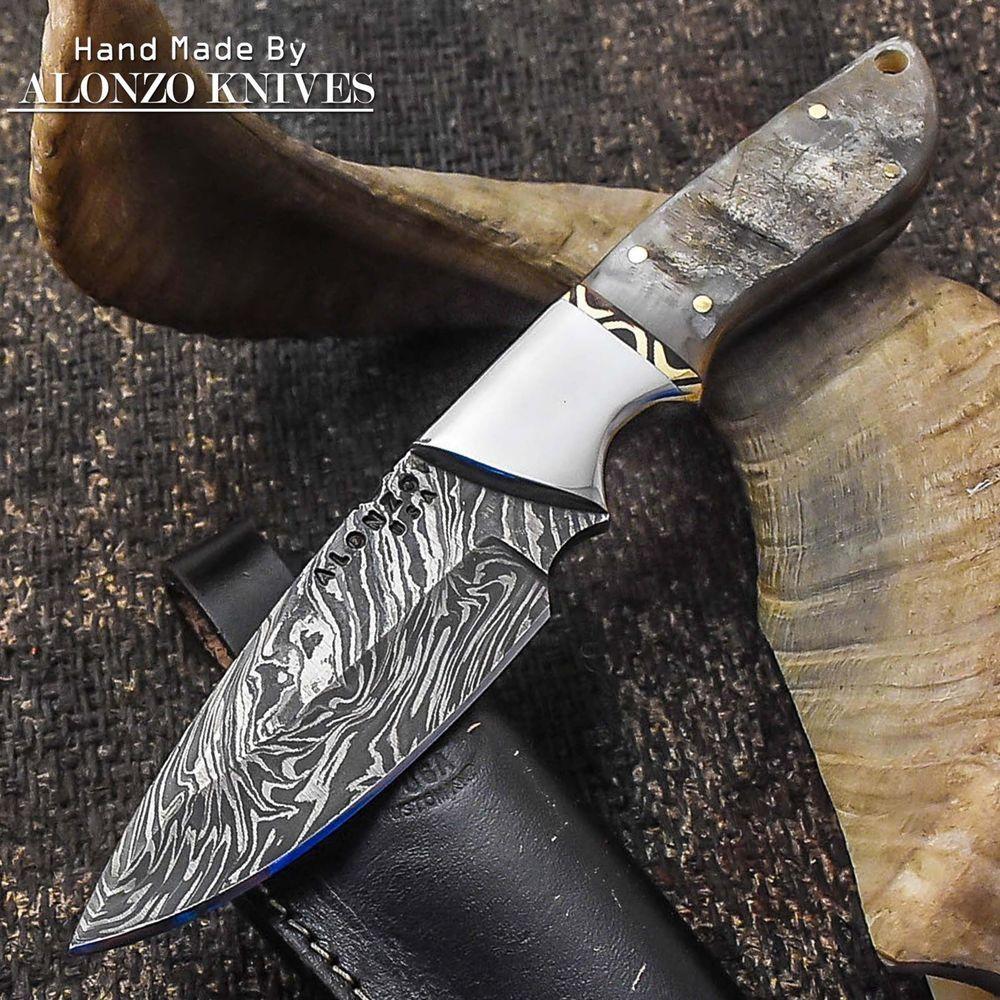 Alonzo Knives Usa Custom Handmade Tactical Hunting 1095 Knife Ram Horn 1801 Alonzoknives Knife Unique Knives Survival Knives Outdoors