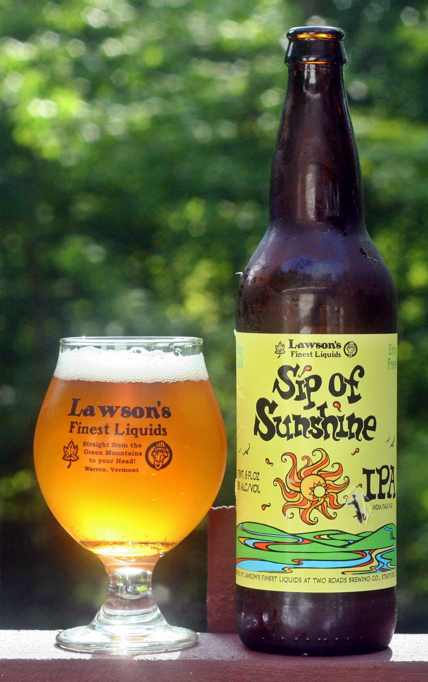 Lawson's Finest Sip of Sunshine- one of the best IPA'S I have ever had!