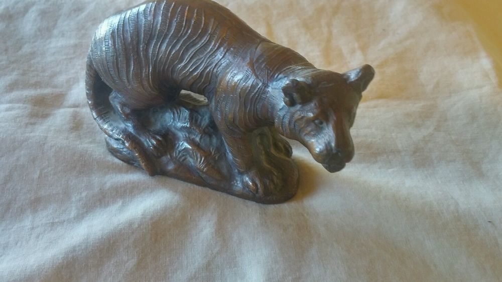 1940's Almar Metal Arts Co. Modernist bronzed metal TIGER BEAUTIFUL DETAIL #Modernist #AlmarMetalArtsCo