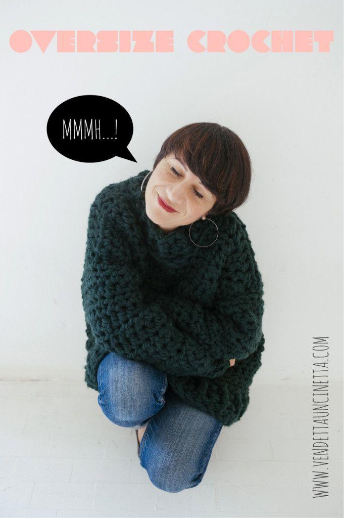Vendetta Uncinetta Crochet Oversize Sweater My Oversize Chunky