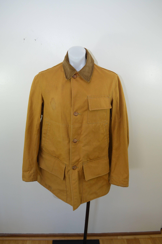 25e589cac2072 Vintage DUXBAK Hunting Coat jacket sz. 42 1930's 40's Utica NY by  ilovevintagestuff on Etsy