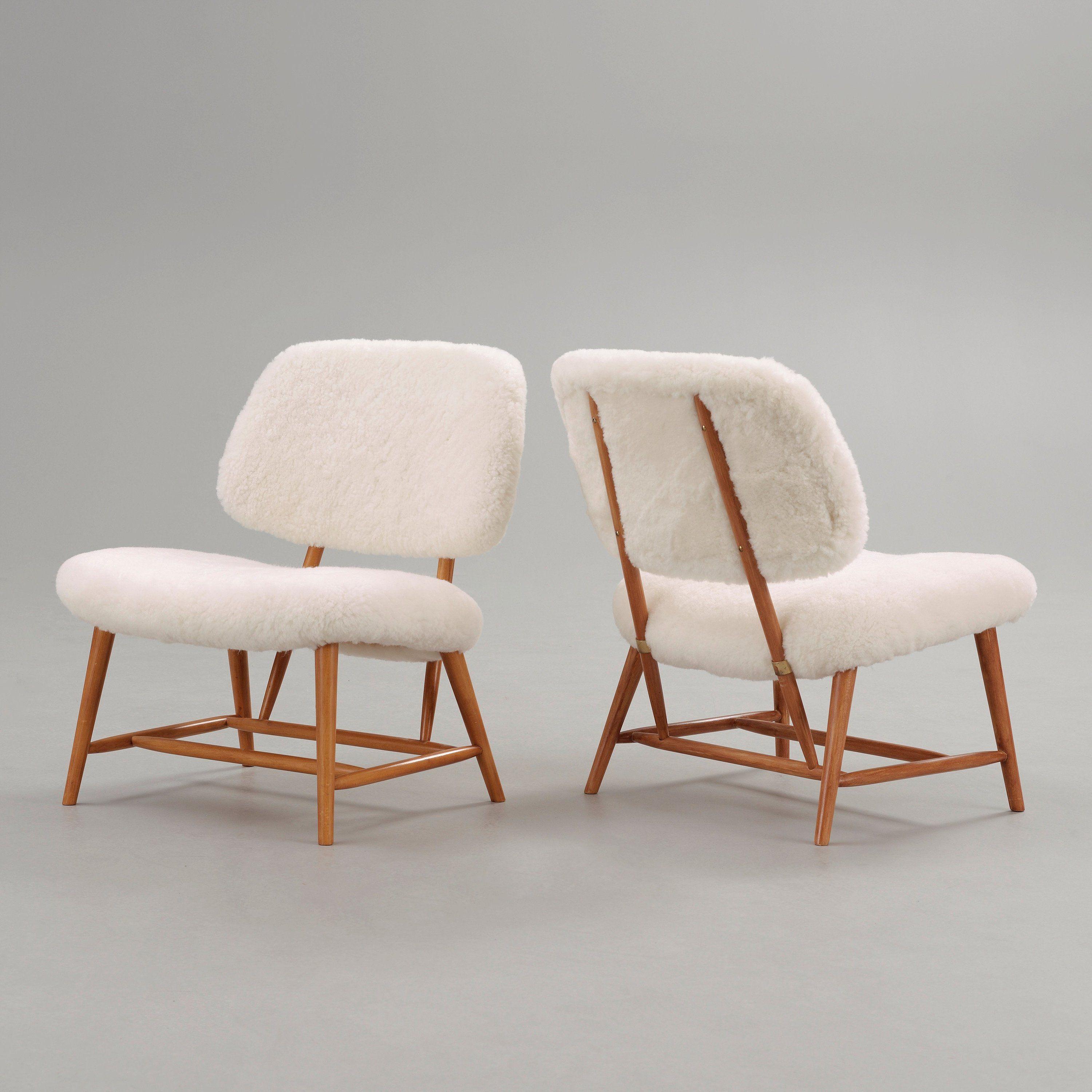 Alf Svensson Lounge Chairs for Ljungs Industrier 1950s