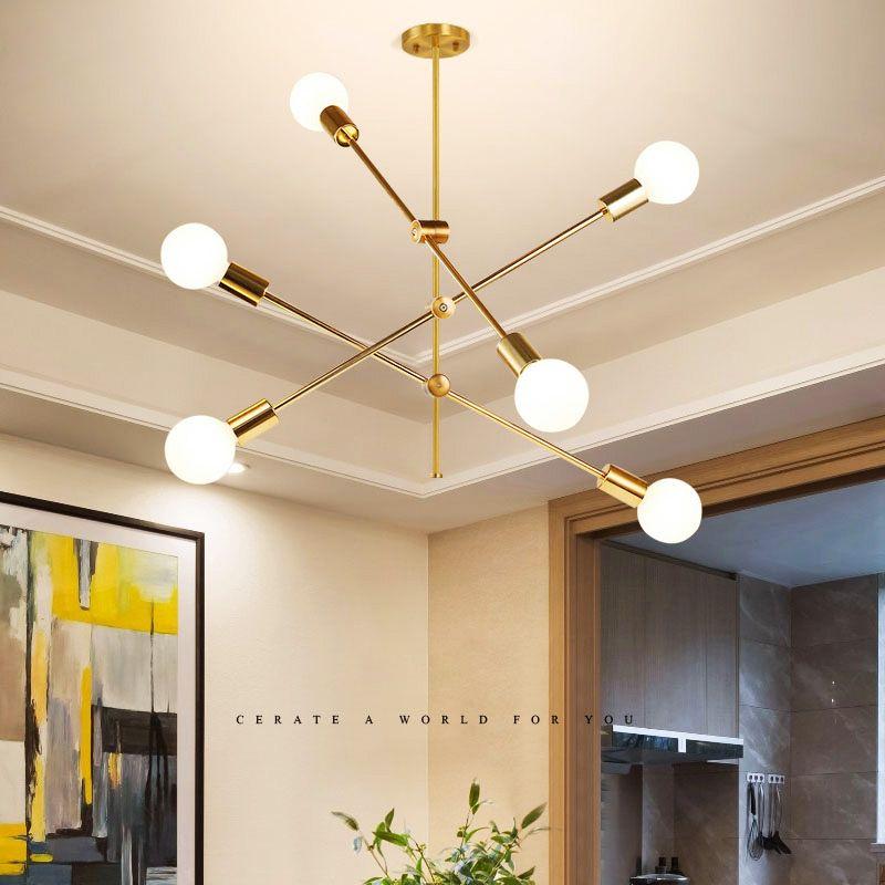Nordic Simple Pendant Light Electrolplating Golden Pendant Light