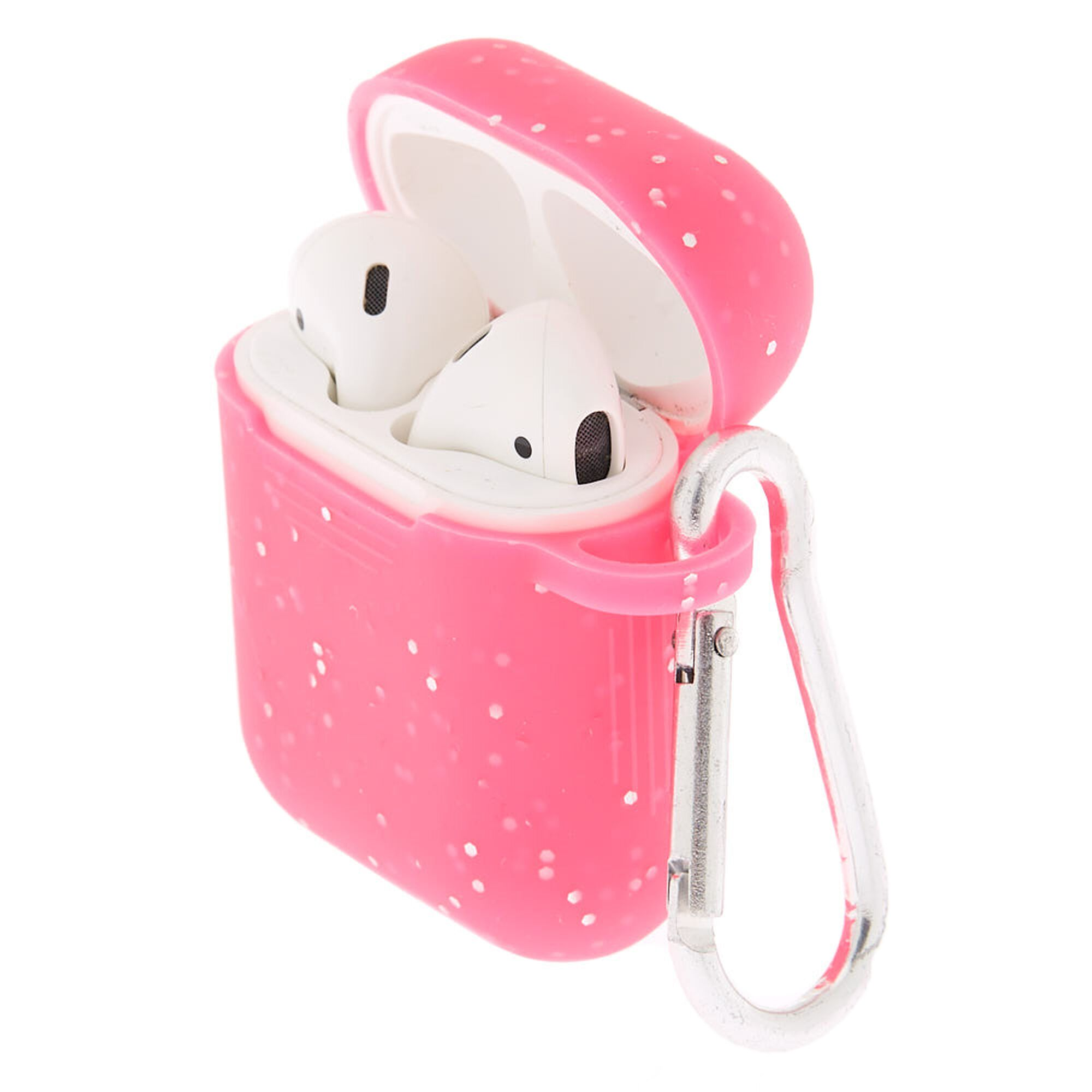 Hot Pink Silicone Earbud Case Cover - Compatible With Apple AirPods