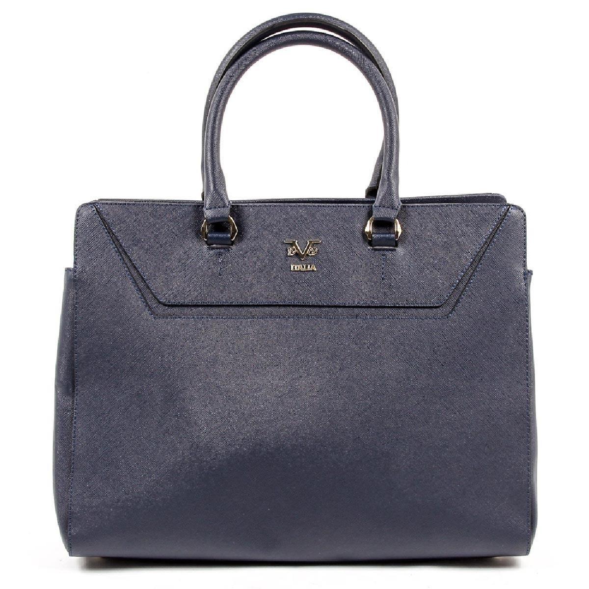 2fcf983646 V 1969 Italia Womens Handbag V1969002 NAVY BLUE. By Versace 19.69 ...