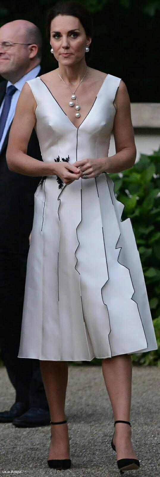 Duchess Catherine In Gosia Baczynska Dress  Prada Clutch