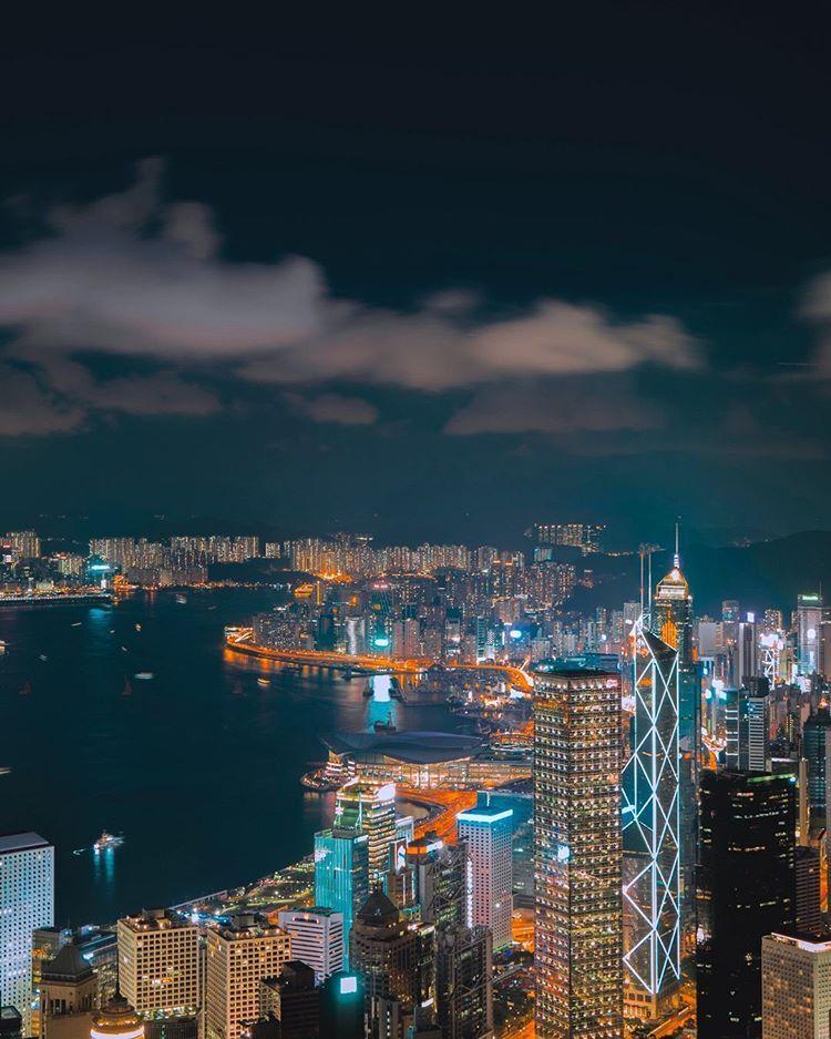 Hongkong Follow Travel Being To Travel With Us Travelbeing Hongkong City Night Skyscrapers Instagram Travel Traveler Hinh Nền