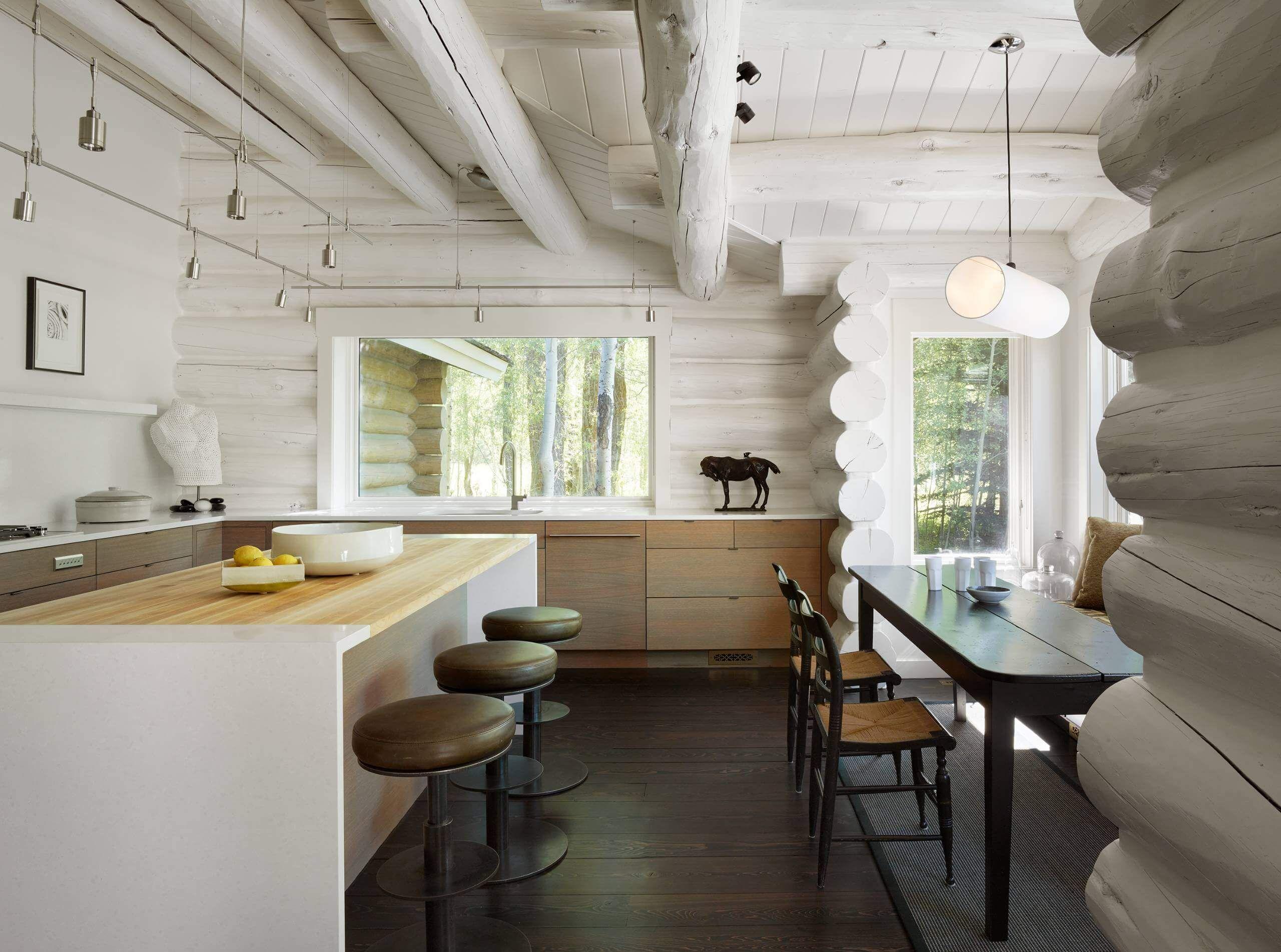 blanc et bois | idées aménagement intérieur | Pinterest
