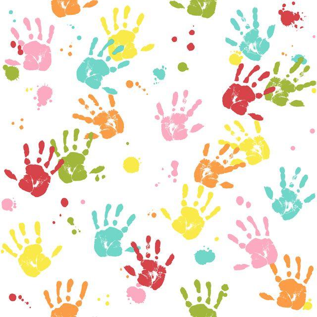 Id e sympa pour une chambre a faire en peinture avec toutes les mains de la maison pour la - Peinture main enfant ...