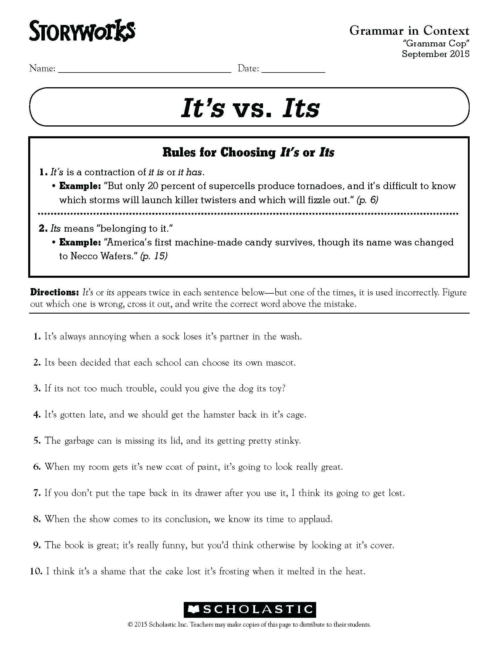 4 Sample Grade 1 Reading Comprehension Ideas Of Fourth Grade Grammar Worksheets For Exce In 2020 Third Grade Grammar Worksheets Fourth Grade Writing Grammar Worksheets