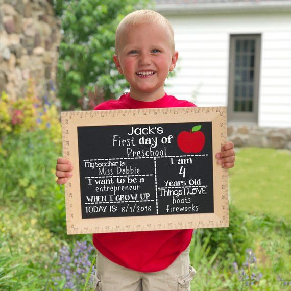 First Day of School Chalkboard, First Day of School Sign, Reusable First Day of School Sign, First Day of Kindergarten, Preschool