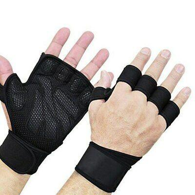 Ad (eBay) Rutschfeste Fitness-Halbfingerhandschuhe für das Gewichtheben Handgelenk-Hantel-Trainingsh...
