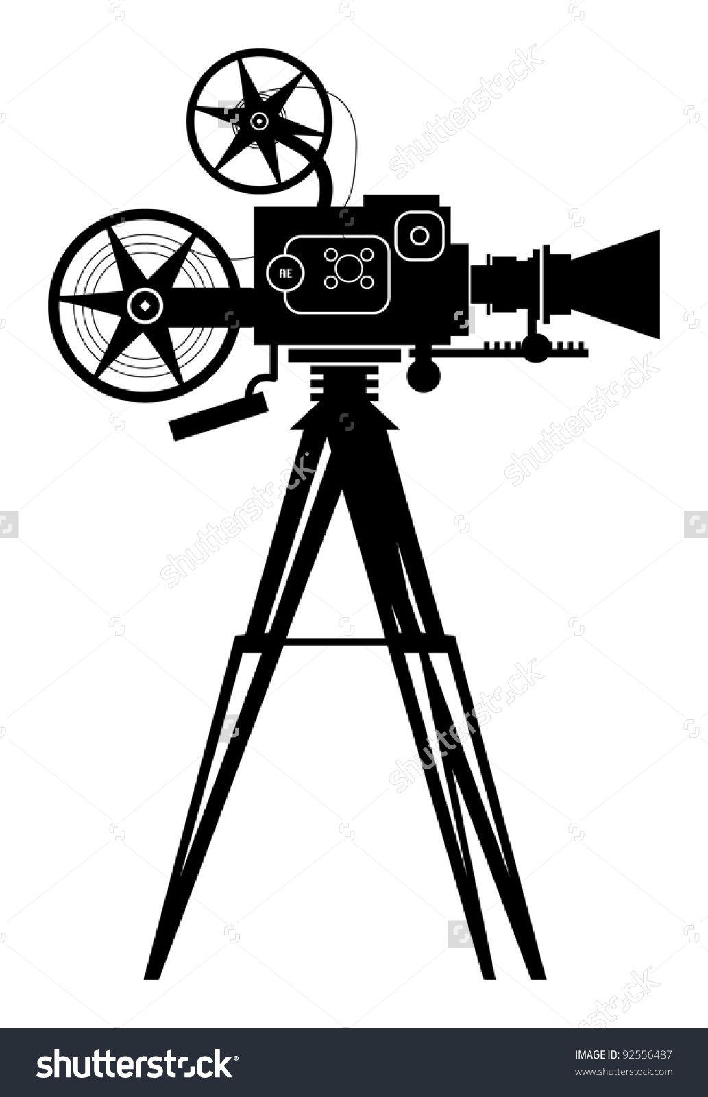 Vintage Cinema Camera Vector Illustration Cinema Camera Camera Drawing Video Camera