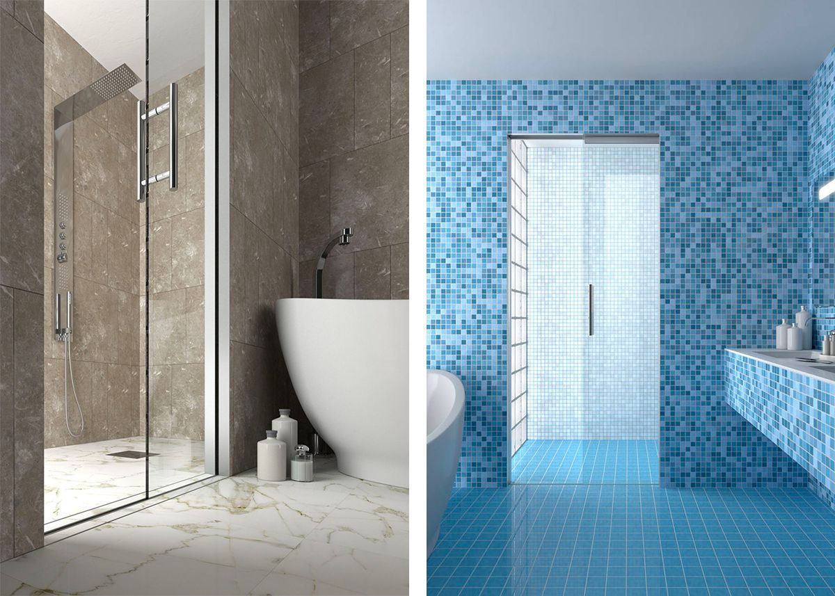 Scrigno sliding doors flush with floor for showers | BATHING BEAUTY ...