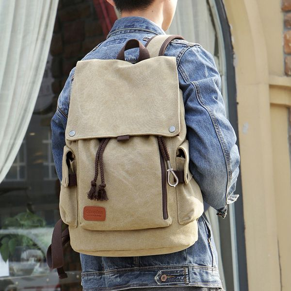 Classic Backpack Sports Women Men/'s Canvas Travel School Shoulder Bag Rucksack