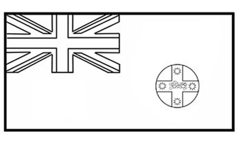 Nsw Flag Flag History Colouring Pages Flag Coloring Pages