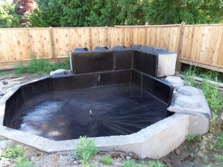 Superpro Coating Applied As A Waterproof Pond Liner Superpro