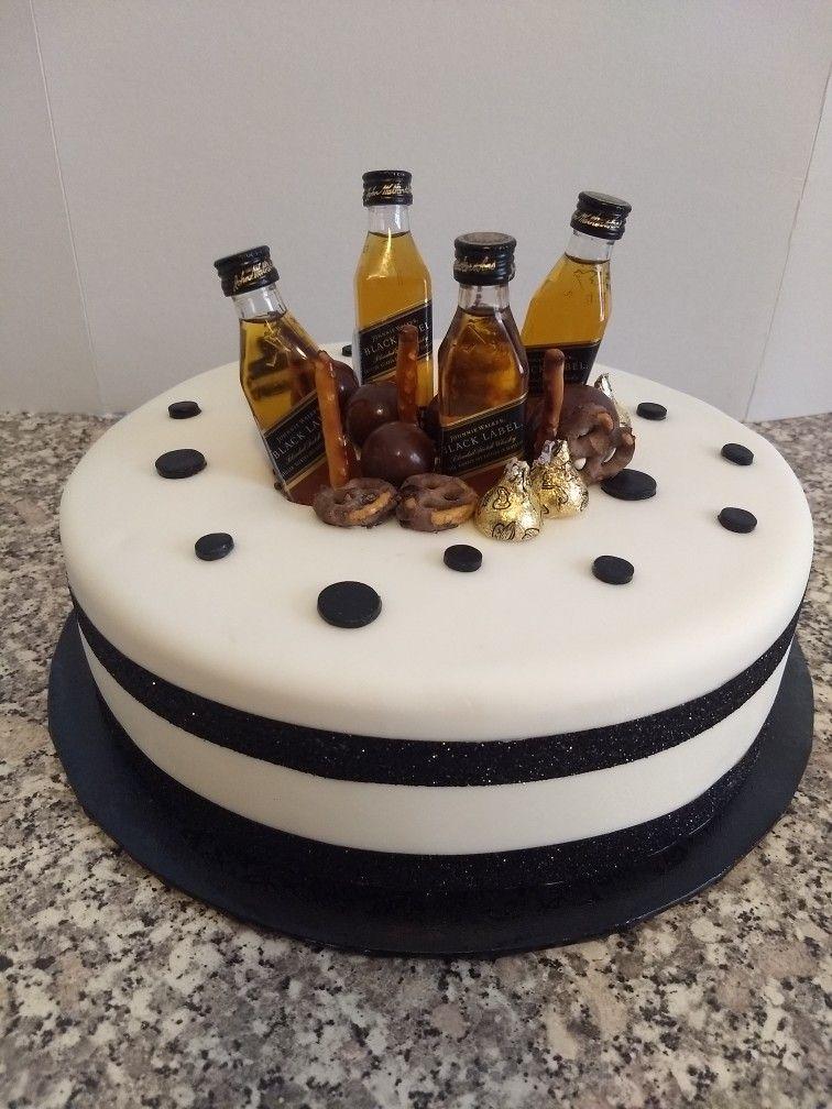 Bizcocho black label birthday cake for him cake
