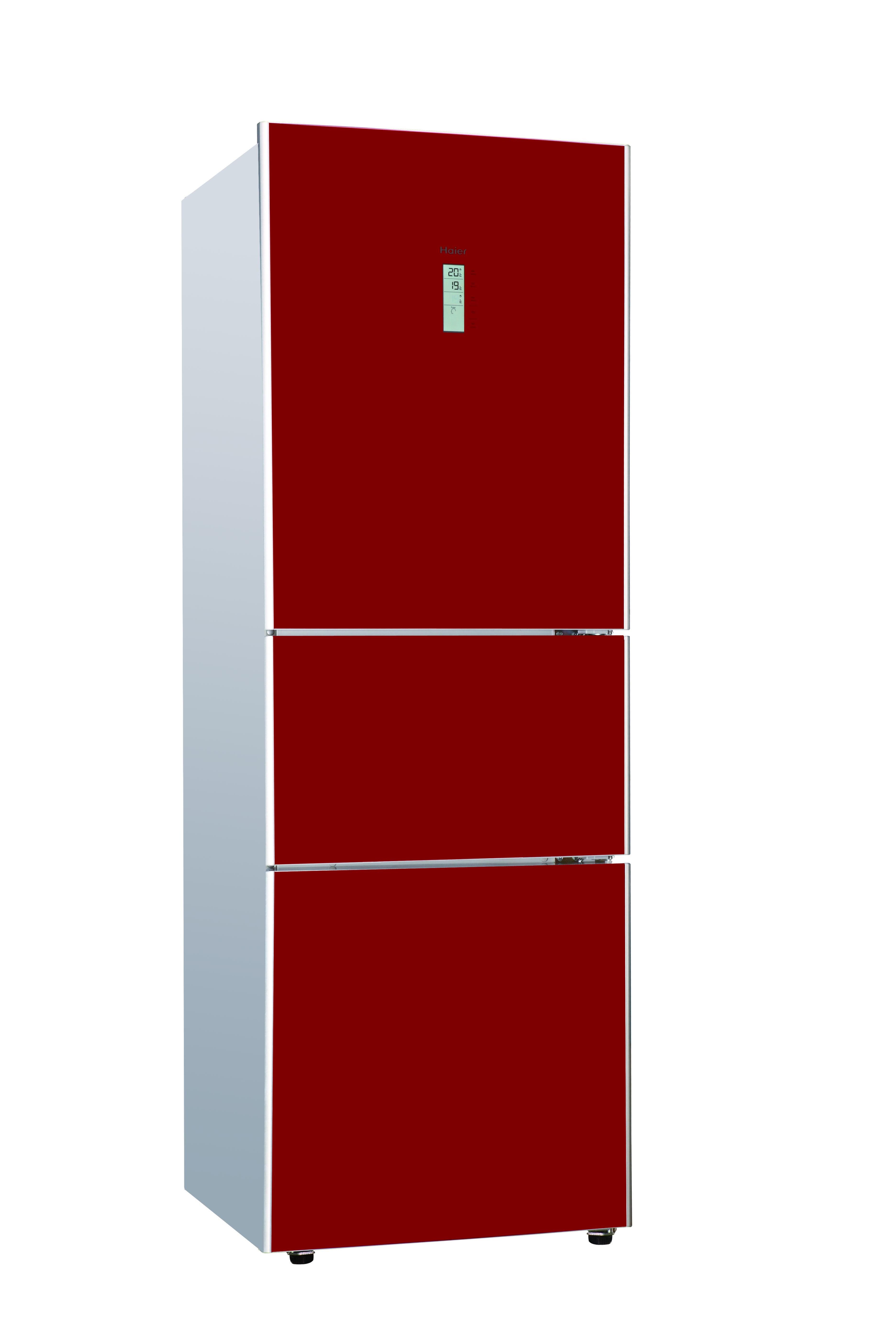 Haier Fridge Freezer 64cm Wide 3 Door split Frost Free Red
