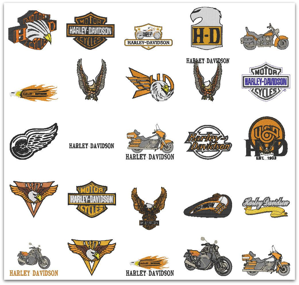 Harley Davidson Embroidery Designs Embroidery Designs Pinterest