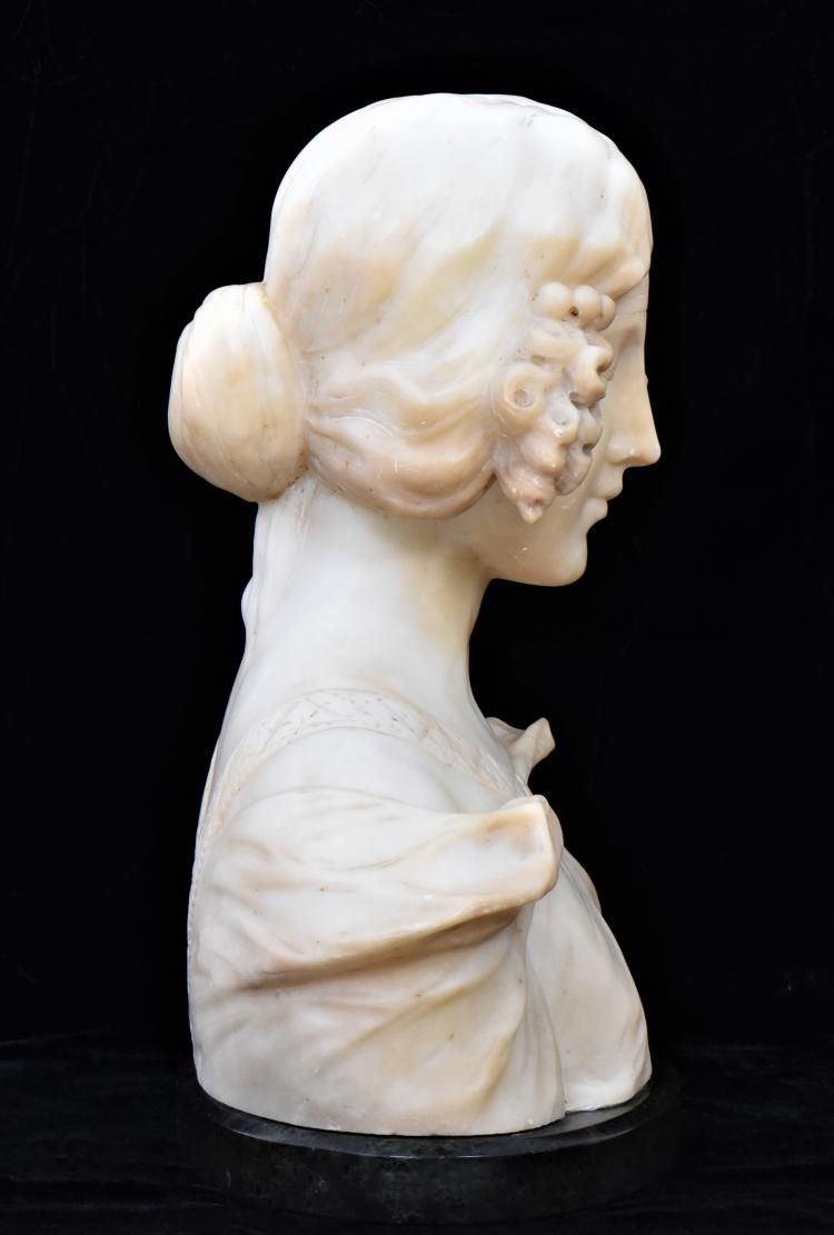 Adolfo Cipriani 1880 1930 Italian 19th Century Marble Alabaster